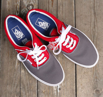 VANS Era 2 Tone Pewter/Racing Red