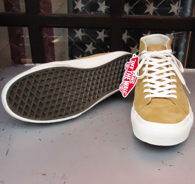 USA企画 VANS Court Mid DX(Pig Suede)Amber Gold