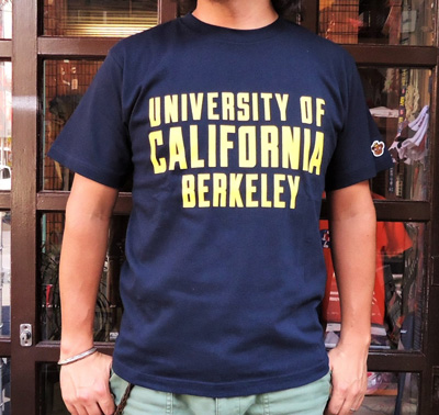 【UC BERKELEY】プリントTシャツ - UNIVERSITY OF CALIFORNIA BERKELEY ネイビー