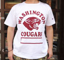 BUDDY 別注 Champion U.S.A.T1011 プリントTシャツ(WASHINGTON COUGARS)