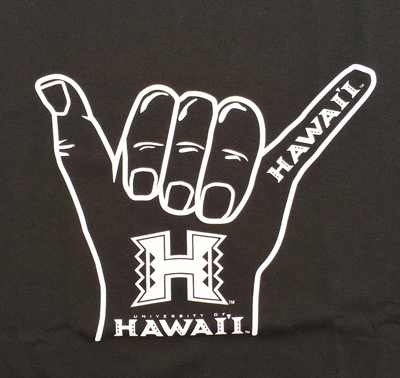 UNIVERSITY OF HAWAII Hang Loose Tシャツ ハワイ大学