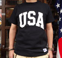 RUSSELL ATHLETIC PRO COTTON Tシャツ USA (ブラック)