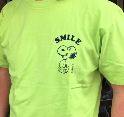 BUDDY 別注 PEANUTS スヌーピーTシャツ THE PEANUTS GANG LIGHT GREEN